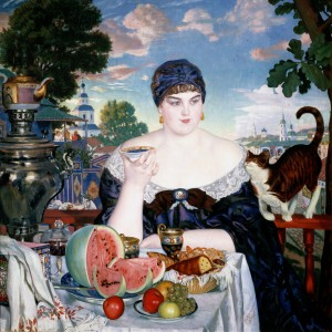 Boris_Kustodiev_-_Merchant's_Wife_at_Tea_-_Google_Art_Project